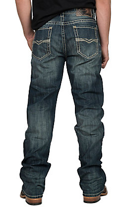 Rock & Roll Cowboy Men's Double Barrel Dark Wash Boot Cut Jeans
