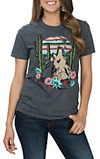 Crazy Train Women's Heather Grey Moonlight Melody S/S T-Shirt