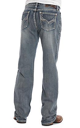 Rock & Roll Denim Men's Double Barrel Relaxed Fit Straight Leg Jeans