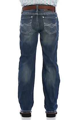 Rock & Roll Denim Men's Double Barrel Reflex Straight Abstract Pocket Jeans