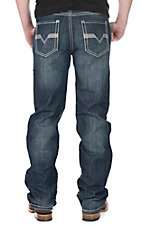 Rock and Roll Cowboy Men's Dark Wash Relaxed Fit Straight Leg Jeans