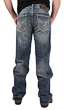 Rock & Roll Cowboy Men's Double Barrel Straight Leg Medium Wash Jeans
