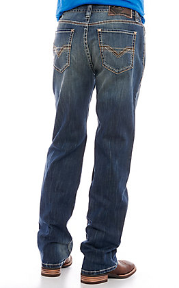 Rock & Roll Denim Men's Double Barrel Medium Wash Relaxed Fit Jeans