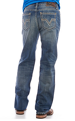 Rock & Roll Denim Men's Double Barrel Medium Wash Relaxed Fit Jeans