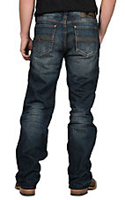 Rock & Roll Cowboy Men's Double Barrel Straight Leg Dark Wash w/ Reflex Denim Jeans
