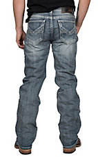 Rock & Roll Cowboy Men's Double Barrel Straight Leg Light Wash Jeans