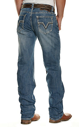 Rock & Roll Denim Men's Double Barrel Medium Wash Relaxed Reflex Stretch Straight Leg Jeans