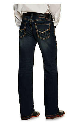 Rock & Roll Denim Men's Double Barrel Dark Wash Relaxed Fit Reflex Stretch Straight Leg Jean