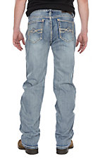 Rock & Roll Cowboy Men's Double Barrel Straight Leg Light Wash AV Stitched Pocket Jeans