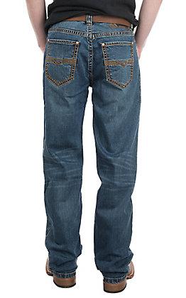 Rock & Roll Denim Men's ReFlex Double Barrel Straight Flat Seam Jean