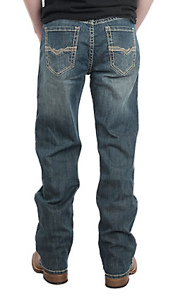 Rock & Roll Men's Double Barrel Straight Reflex Ivory V Jeans
