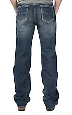 Rock & Roll Cowboy Men's Medium Wash Double Barrel Relaxed Straight Leg Jeans