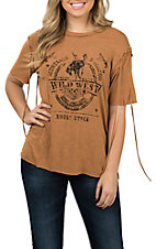 Vintage Havana Burnt Orange Wild West Casual Knit Shirt