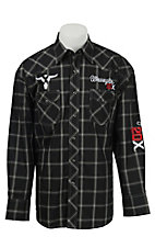 Wrangler 20X Black Plaid Logo Embroidery Long Sleeve Western Shirt MP1276M