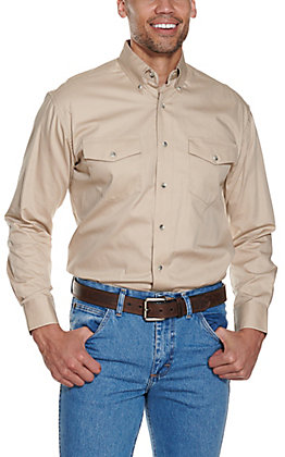Wrangler Painted Desert L/S Western Shirt Tan MP3482T2