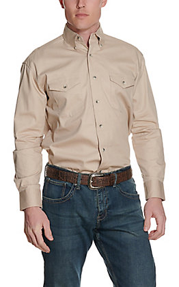 Wrangler Tan Painted Desert Long Sleeve Western Shirt - Big & Tall