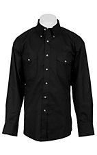 Painted Desert by Wrangler L/S Mens Black Shirt MP4282X2