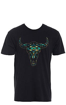 Wrangler Men's Black Aztec Skull T-Shirt