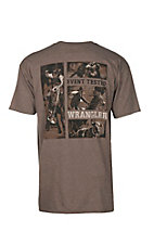 Wrangler Men's Brown Heather Event Tested T-Shirt