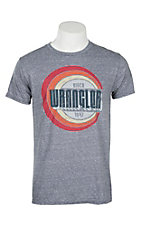 Wrangler Men's Heather Grey Graphic Logo S/S T-Shirt