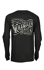 Wrangler Men's Black Athletic Graphic L/S T-Shirt