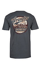 Wrangler Men's Charcoal Cactus Screen Printed S/S T-Shirt