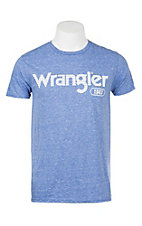 Wrangler Men's Heather Blue Logo S/S T-Shirt
