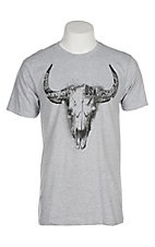 Wrangler Men's Heather Grey Steer Head Graphic S/S T-Shirt