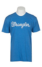 Wrangler Men's Blue Branded S/S T-Shirt