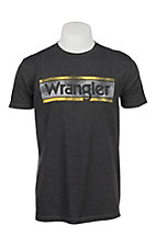 Wrangler Men's Charcoal Grey Logo S/S T-Shirt