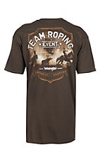 Wrangler Dark Chocolate Team Roping Graphic S/S T-Shirt