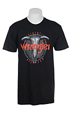 Wrangler Men's Black Steer Head Short Sleeve T-Shirt
