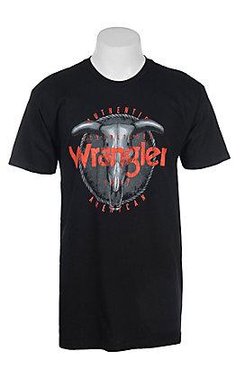 Wrangler Men's Black Steer Head Short Sleeve T-Shirt