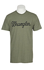 Wrangler Men's Sage Branded S/S T-Shirt