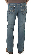 Rock 47 by Wrangler Men's Dark Wash Slim Boot Cut Open Pocket Jeans