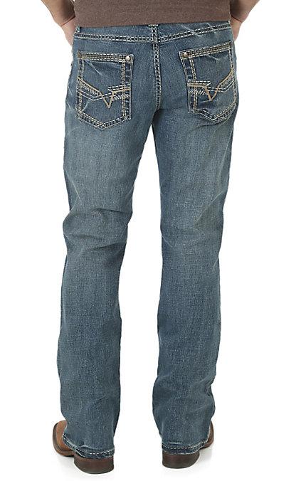 Wrangler Rock 47 >> Rock 47 By Wrangler Men S Dark Wash Slim Boot Cut Open Pocket Jeans