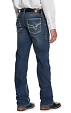 Rock 47 by Wrangler Men's Cavender's Exclusive Dark Wash Slim Boot Stretch Jeans