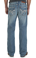 Rock 47 by Wrangler Men's Heavy Metal Slim Fit Boot Cut Jean