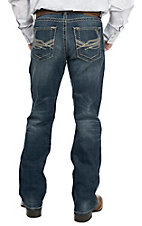Rock 47 by Wrangler Men's Mash Up Slim Boot Cut Jeans