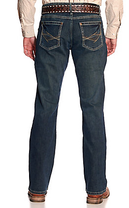 Wrangler Rock 47 Men's Soundtrack Dark Wash Slim Boot Cut Stretch Jeans