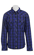 Rock 47 by Wrangler Men's L/S Plaid Western Shirt MRC202M
