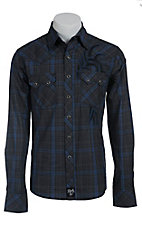 Rock 47 by Wrangler Men's L/S Plaid Western Shirt MRC205M