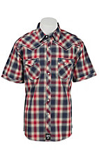 Rock 47 Men's Red Plaid Snap Western Shirt MRC261M