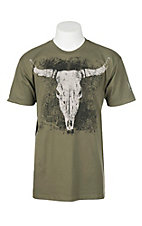 Wrangler Men's Green Steer Head Graphic T-Shirt