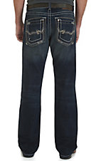 Rock 47 by Wrangler Men's Dark Fame Relaxed Fit Boot Cut Jean