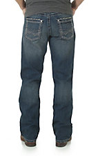 Rock 47 by Wrangler Men's Dark Wash Open Pocket Relaxed Boot Cut Jeans