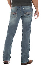 Rock 47 by Wrangler Men's Playback Stretch Relaxed Boot Cut Jeans