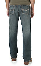 Rock 47 by Wrangler Men's Vintage Dark Wash Relaxed Boot Cut Jeans