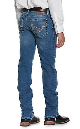 Wrangler Rock 47 Men's Magnolia Medium Wash Slim Fit Straight Leg Stretch Jeans
