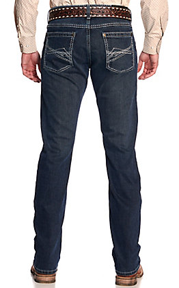 Rock 47 by Wrangler Men's Quartte Dark Wash Slim Straight Leg Stretch Jeans
